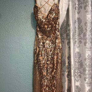 Dresses - Rose Gold Prom Dress